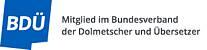 Mitglied im Bundesverband der Dolmetscher und Übersetzer (BDÜ)